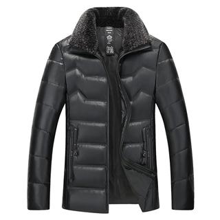 199包邮男士加棉加厚舒适保暖经典立领短款大码羽绒棉男款皮棉衣外套
