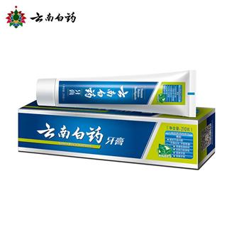 云南白药牙膏薄荷清爽型牙膏210g*2支装 美白去黄牙