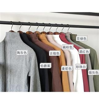 【爆款时尚面膜衣80到130斤可穿】半高领纯色打底衫
