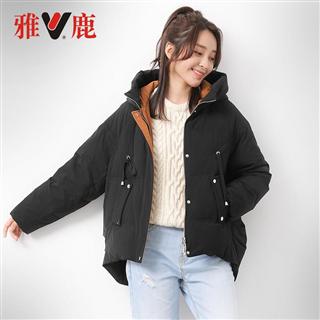 【直播专享】yaloo/雅鹿新款短款羽绒服女连帽时尚保暖外套