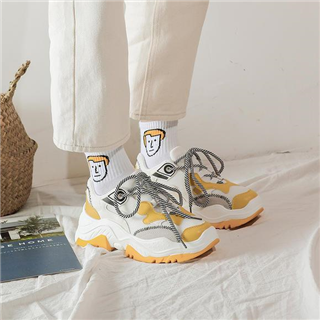 【爆款跑步运动女鞋】wish韩版拼色老爹鞋 ins超火爆款鞋子