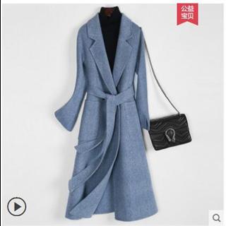 赫本风469包邮大衣女羊毛双面呢子外套女中长款韩版2018新款秋冬季无羊绒