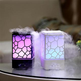 水立方香薰机 超声波香薰加湿器 七彩氛围灯家用加湿器