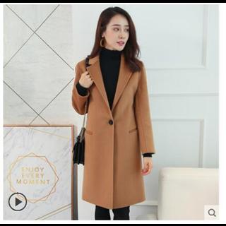 489包邮100%双面羊毛呢大衣女外套中长款2018新款秋冬韩版修身零羊绒呢子大衣