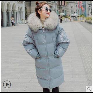 169包邮羽绒棉服女中长款韩版宽松bf过膝棉衣2018新款外套女冬加厚面包服