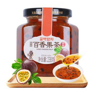 花圣蜂蜜百香果茶238g/瓶水果冲饮茶果酱泡水喝饮品奶茶自制原料238g*2瓶