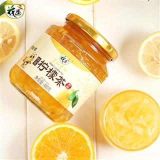 花圣蜂蜜柠檬茶480g/瓶韩式风味果味茶水果酱花果茶奶茶店饮料冲饮品480g*2瓶