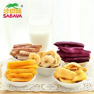 沙巴哇越南进口综合蔬果干230g*2袋果蔬干水果干蔬菜干果儿童零食健康