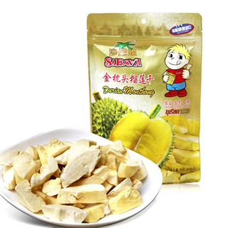 沙巴哇冻干金枕头榴莲干80g*3袋泰国进口特产水果干办公室休闲零食