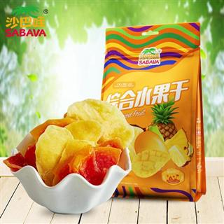 沙巴哇进口综合水果干108g*2袋装进口蜜饯芒果干菠萝蜜干果木瓜干