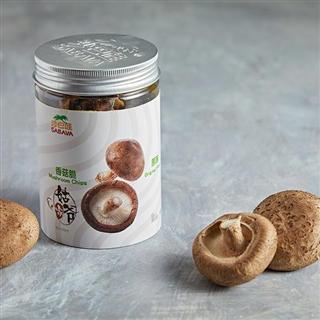 沙巴哇香菇脆78g*2罐装脱水蔬菜干蔬果干香菇肉即食蘑菇脆片零食