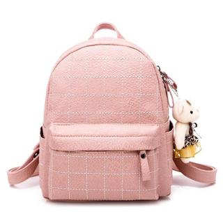 新款pu女包潮流学院风女式双肩包爆款时尚背包