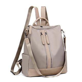 新款尼龙纯色双拉链学院风纯色女生旅行双肩包时尚背包