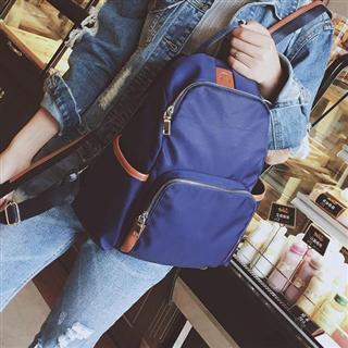 新款女包车缝线双肩包牛津布潮流时尚女士背包尼龙旅行包
