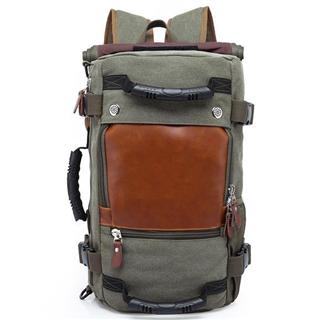 欧美大容量双肩包帆布男 多功能双肩电脑背包户外旅行书包16寸