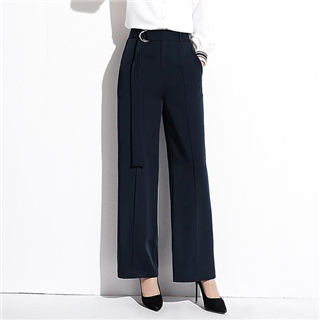 新款时尚韩国东大门宽松显瘦百搭纯色阔腿裤