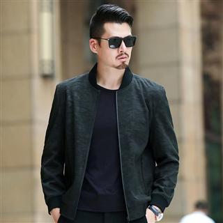 169包邮2019春秋新款外套男棒球领时尚型男中年男士休闲夹克上衣