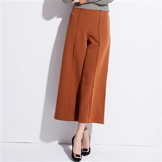 新款显瘦名媛时尚OL百搭高腰阔腿九分裤