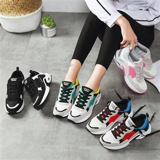 春季新款网布女鞋 休闲时尚运动鞋潮流系带鞋