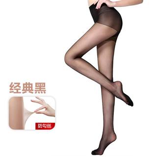 宝娜斯30D加裆珠光丝袜4条装 防勾丝连裤袜性感油亮
